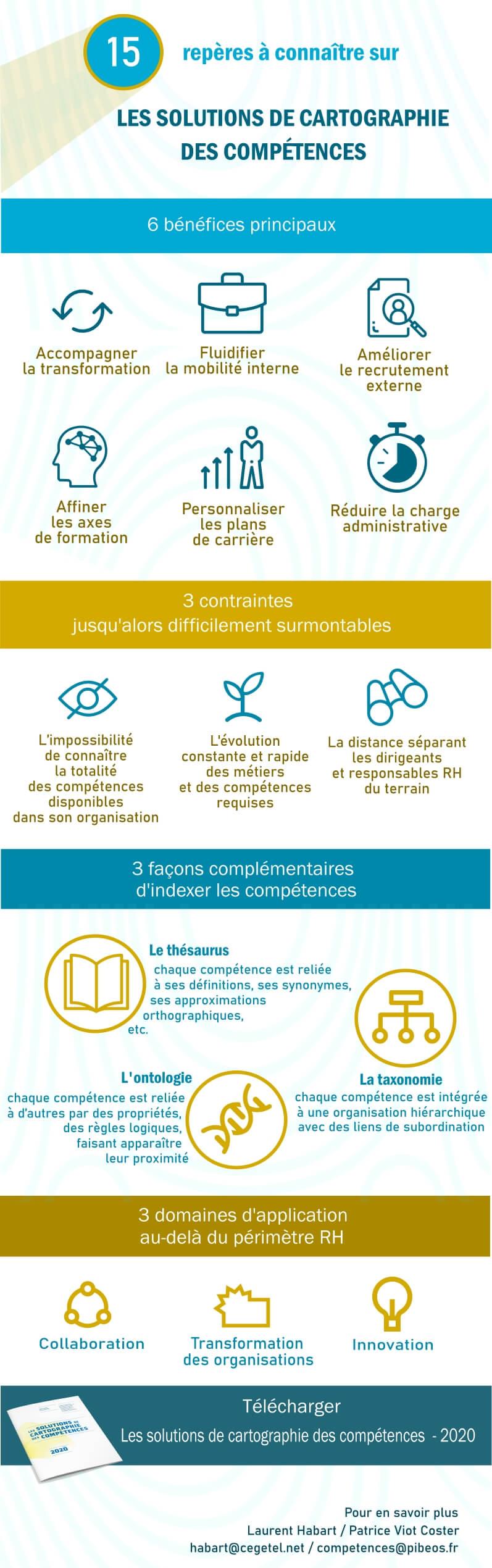 """Infographie """"Les solutions de cartographie des compétences"""""""